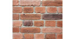 Искусственный камень Балтфасад Старый кирпич красно-коричневый 255×70, 120×70 мм фото