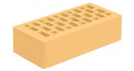 Кирпич керамический облицовочный пустотелый Голицынский КЗ Янтарь желтый гладкий 250*120*65 мм фото