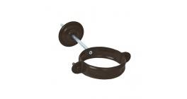 Хомут трубы с комплектом крепления АКВАСИСТЕМ (AQUASYSTEM) АС темно-коричневый (RR32), D 100 мм фото