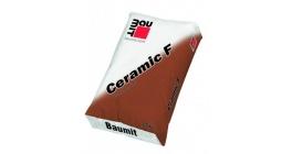 Цветной раствор полусухой консистенции на основе цементного вяжущего Baumit Ceramic F Алебастрово-белый фото