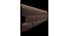 Виниловый сайдинг Docke Lux, Bergrat под камень, кедровый орех, 1809*285*1 мм фото