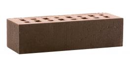 Кирпич клинкерный облицовочный пустотелый ЛСР Лиссабон темно-красный с черным песком 250*85*65 мм фото
