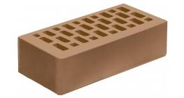 Кирпич керамический облицовочный пустотелый Голицынский КЗ Гляссе светло-коричневый гладкий 250*120*65 мм фото