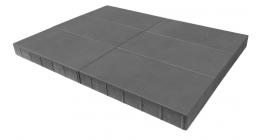Тротуарная плитка BRAER Сити Серый, 600*300*80 мм фото