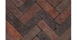 Клинкерная тротуарная брусчатка ручной формовки Penter Megaton mix tumbled, 200х65х65 мм фото
