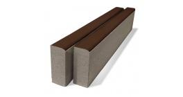 Тротуарный бордюр BRAER БР100.20.8 коричневый, 1000*80*200 мм фото