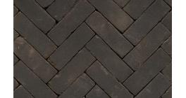 Клинкерная тротуарная брусчатка ручной формовки Penter Nero tumbled, 200х65х85 мм фото