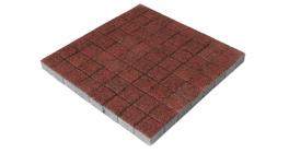 Тротуарная плитка BRAER Лувр Гранит Красный, 100*100*60 мм фото