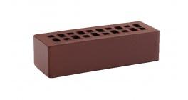 Кирпич керамический облицовочный пустотелый КС-керамик Темный шоколад гладкий 250*85*65 мм фото