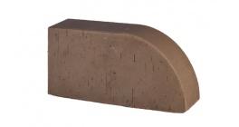 Кирпич керамический облицовочный радиусный полнотелый Lode Brunis F17 гладкий 250*120*65 мм фото