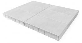 Тротуарная плитка BRAER Сити Белый, 600*300*80 мм фото