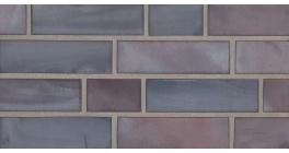 Фасадная плитка клинкерная Stroher Keravette Chromatic 325 achatblue flashed гладкая NF11, 240*71*11 мм фото