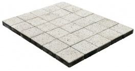 Тротуарная плитка BRAER Лувр Гранит Белый, 200*200*60 мм фото