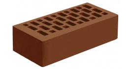 Кирпич керамический облицовочный пустотелый Голицынский КЗ Темно-терракотовый гладкий 250*120*65 мм фото