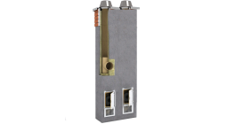 Комплект дымохода SCHIEDEL UNI двухходовой с вентканалом 4 п.м, 36*81 см, D 16L-18 см фото