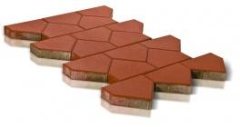 Тротуарная плитка BRAER Тиара Красный, 283*200*60 мм фото