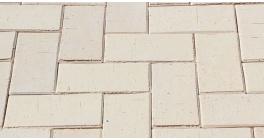 Брусчатка тротуарная клинкерная ЛСР Венеция белая, 200*100*50 мм фото