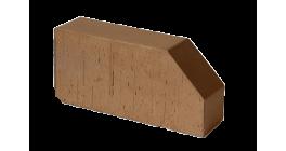 Кирпич керамический облицовочный фигурный полнотелый Lode Brunis F6 гладкий 250*120*65 мм фото