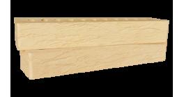 Кирпич керамический облицовочный пустотелый Красная гвардия желтый rock 350*85*50 мм фото
