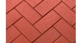 Тротуарная клинкерная брусчатка ЛСР Лондон красная, 200*100*50 мм фото