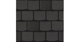 Мягкая кровля CertainTeed Highland Slate (2,98 м2/уп) Black Granite фото