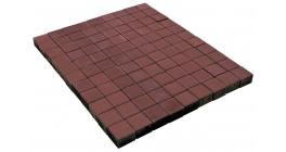 Тротуарная плитка BRAER Лувр Красный, 100*100*60 мм фото