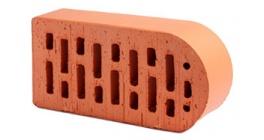 Кирпич керамический облицовочный радиусный пустотелый Lode Janka F22 гладкий 250*120*65 мм фото