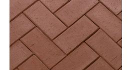 Тротуарная клинкерная брусчатка ЛСР Берлин светло-коричневая флэшинг, 200*100*50 мм фото