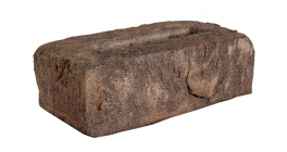 Кирпич ручной формовки облицовочный полнотелый Faber Jar, коричневый Петровский штандарт, 215х102х65 мм фото
