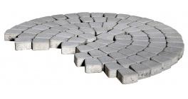 Тротуарная плитка BRAER Классико круговая Серый, 73*110*115*60 мм фото