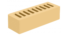 Кирпич керамический облицовочный пустотелый Голицынский КЗ Соломенный гладкий 250*85*65 мм фото