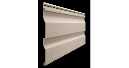 Виниловый сайдинг Docke Premium, Корабельный брус D4.5D, крем-брюле, 3600*232*1 мм фото