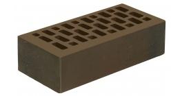 Кирпич керамический облицовочный пустотелый Голицынский КЗ Венге темно-коричневый флэшинг гладкий 250*120*65 мм фото