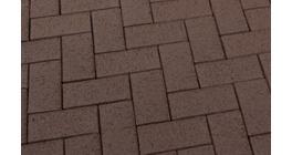 Тротуарная клинкерная брусчатка Feldhaus Klinker P502DF umbra plano, 240*118*52 мм фото