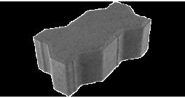 Тротуарная плитка ЦЕМСИС Волна 1Ф.8 серый, 225*112,5*80 мм фото