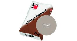 Цветной кладочный раствор для лицевого кирпича Baumit Klinker Normal серый, 25 кг фото