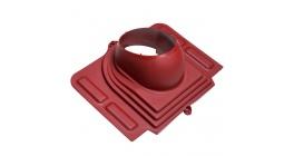 Проходной элемент VILPE PELTI для металлической кровли, бордо фото