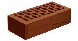 Кирпич керамический облицовочный пустотелый Голицынский КЗ Темно-терракотовый руст 250*120*65 мм фото