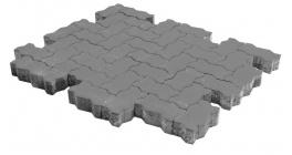 Тротуарная плитка BRAER Волна серый, 240*135*80 мм фото