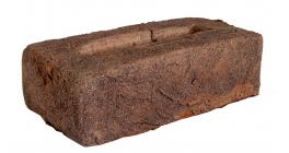 Кирпич ручной формовки облицовочный полнотелый Faber Jar, черно-красный Петровский штандарт, 215х102х65 мм фото
