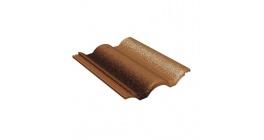 Цементно-песчаная черепица  рядовая BRAAS Адриа коричневая фото