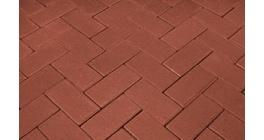Брусчатка тротуарная клинкерная Penter rot, 240x118x62 мм фото