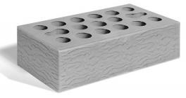 Кирпич керамический облицовочный пустотелый Керма Серебро рустик 1NF 250*120*65 мм фото