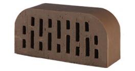 Кирпич керамический облицовочный радиусный пустотелый Lode Brunis F14 гладкий 250*120*65 мм фото