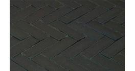 Клинкерная тротуарная брусчатка ручной формовки Penter Nero wasserstrich tumbledt, 200х65х85 мм фото