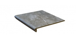 Клинкерная флорентийская ступень Interbau Abell 274 Серебристо-серый 310x320 мм фото
