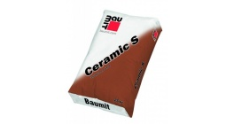 Цветной раствор пластичной консистенции на основе цементного вяжущего Baumit Ceramic S Антрацитово-серый фото