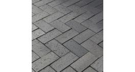 Тротуарная клинкерная брусчатка LHL Tybet темно серо-синий шероховатая, 200*100*52 мм фото