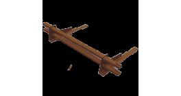 Комплект трубчатого снегозадержания BORGE 1 м для черепичной кровли, медно-коричневый фото