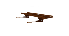 Переходной мостик BORGE RR 32  для черепичной и сланцевой кровли серо-коричневый, 1,5 м фото